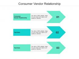 Consumer Vendor Relationship Ppt Powerpoint Presentation Model Elements Cpb