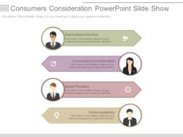 Consumers Consideration Powerpoint Slide Show