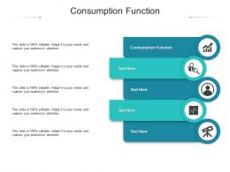 Consumption Function Ppt Powerpoint Presentation Icon Examples Cpb