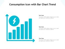 Consumption Icon With Bar Chart Trend