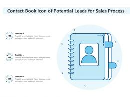 Contact Book Icon Of Potential Leads For Sales Process
