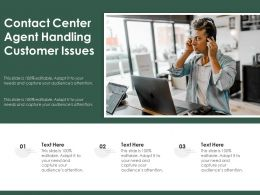 Contact Center Agent Handling Customer Issues