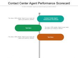 Contact Center Agent Performance Scorecard Ppt Powerpoint Presentation Model Design Inspiration Cpb