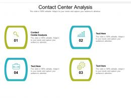 Contact Center Analysis Ppt Powerpoint Presentation Ideas Images Cpb