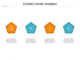 Contact Center Analytics Ppt Powerpoint Presentation Summary Templates Cpb