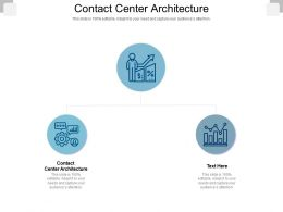 Contact Center Architecture Ppt Powerpoint Presentation Layouts Objects Cpb