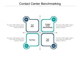 Contact Center Benchmarking Ppt Powerpoint Presentation Show Guide Cpb