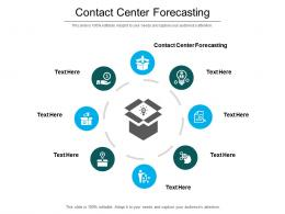 Contact Center Forecasting Ppt Powerpoint Presentation Summary Themes Cpb