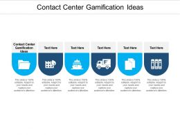 Contact Center Gamification Ideas Ppt Powerpoint Presentation File Display Cpb