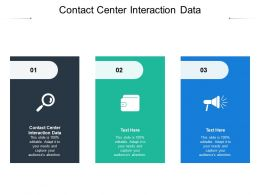 Contact Center Interaction Data Ppt Powerpoint Presentation Portfolio Template Cpb