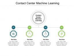Contact Center Machine Learning Ppt Powerpoint Presentation Slides Design Templates Cpb
