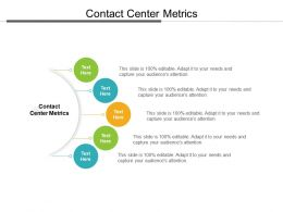 Contact Center Metrics Ppt Powerpoint Presentation Layout Cpb