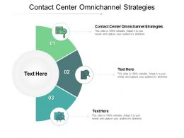 Contact Center Omnichannel Strategies Ppt Powerpoint Presentation Layouts Aids Cpb