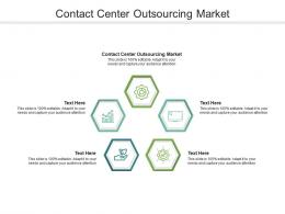 Contact Center Outsourcing Market Ppt Powerpoint Presentation Slides Icons Cpb