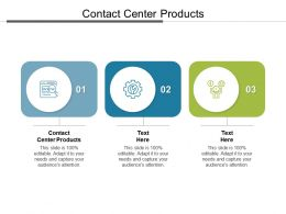 Contact Center Products Ppt Powerpoint Presentation Summary Brochure Cpb
