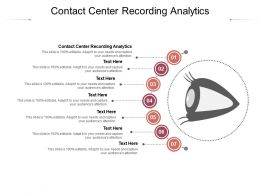 Contact Center Recording Analytics Ppt Powerpoint Presentation Visuals Cpb