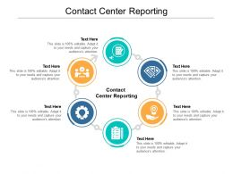 Contact Center Reporting Ppt Powerpoint Presentation Professional Slide Cpb