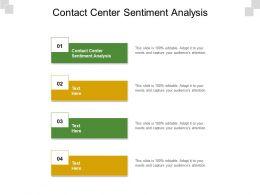 Contact Center Sentiment Analysis Ppt Powerpoint Presentation Ideas Skills Cpb