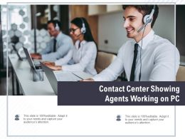 Contact Center Showing Agents Working On Pc