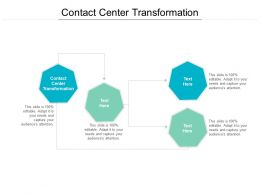 Contact Center Transformation Ppt Powerpoint Presentation Infographic Template Example Cpb