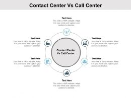Contact Center Vs Call Center Ppt Powerpoint Presentation Download Cpb