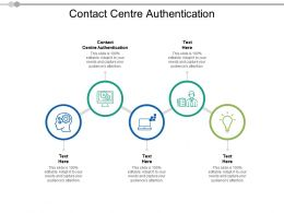 Contact Centre Authentication Ppt Powerpoint Presentation Model Example File Cpb