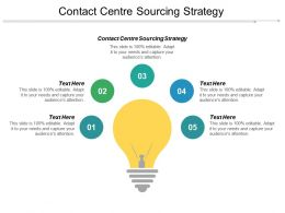 Contact Centre Sourcing Strategy Ppt Powerpoint Presentation Pictures Microsoft Cpb