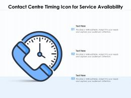 Contact Centre Timing Icon For Service Availability