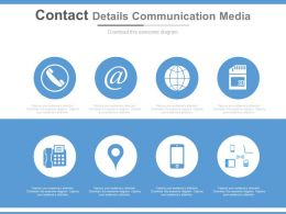 Contact Details Communication Media Ppt Slides