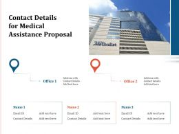 Contact Details For Medical Assistance Proposal Ppt Powerpoint Presentation Summary Smartart
