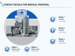 Contact Details For Medical Proposal Ppt Powerpoint Presentation File Slideshow