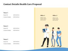 Contact Details Health Care Proposal Ppt Powerpoint Presentation Icon Example