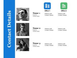 Contact Details Ppt Summary Tips