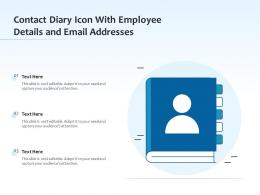 Contact Diary Icon With Employee Details And Email Addresses