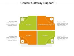 Contact Gateway Support Ppt Powerpoint Presentation Slides Example Introduction Cpb