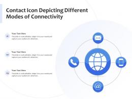 Contact Icon Depicting Different Modes Of Connectivity