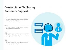 Contact Icon Displaying Customer Support