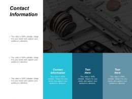 Contact Information Ppt Powerpoint Presentation Gallery Layouts Cpb