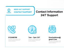 Contact Information Support