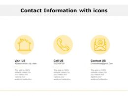 Contact Information With Icons