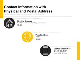 Contact Information With Physical And Postal Address