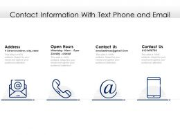 Contact Information With Text Phone And Email