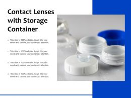 Contact Lenses With Storage Container
