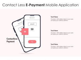 Contact Less E Payment Mobile Application