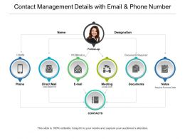 Contact Management Details With Email And Phone Number