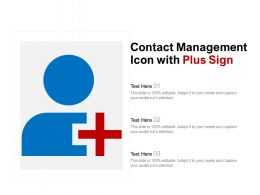 Contact Management Icon With Plus Sign