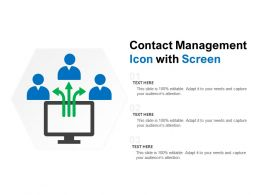 Contact Management Icon With Screen