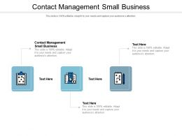 Contact Management Small Business Ppt Powerpoint Presentation Inspiration Show Cpb