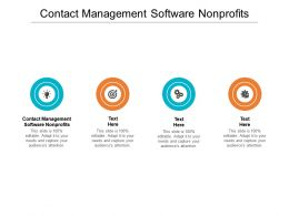 Contact Management Software Nonprofits Ppt Powerpoint Presentation Ideas Good Cpb