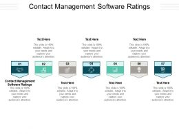 Contact Management Software Ratings Ppt Powerpoint Presentation Slides Portrait Cpb